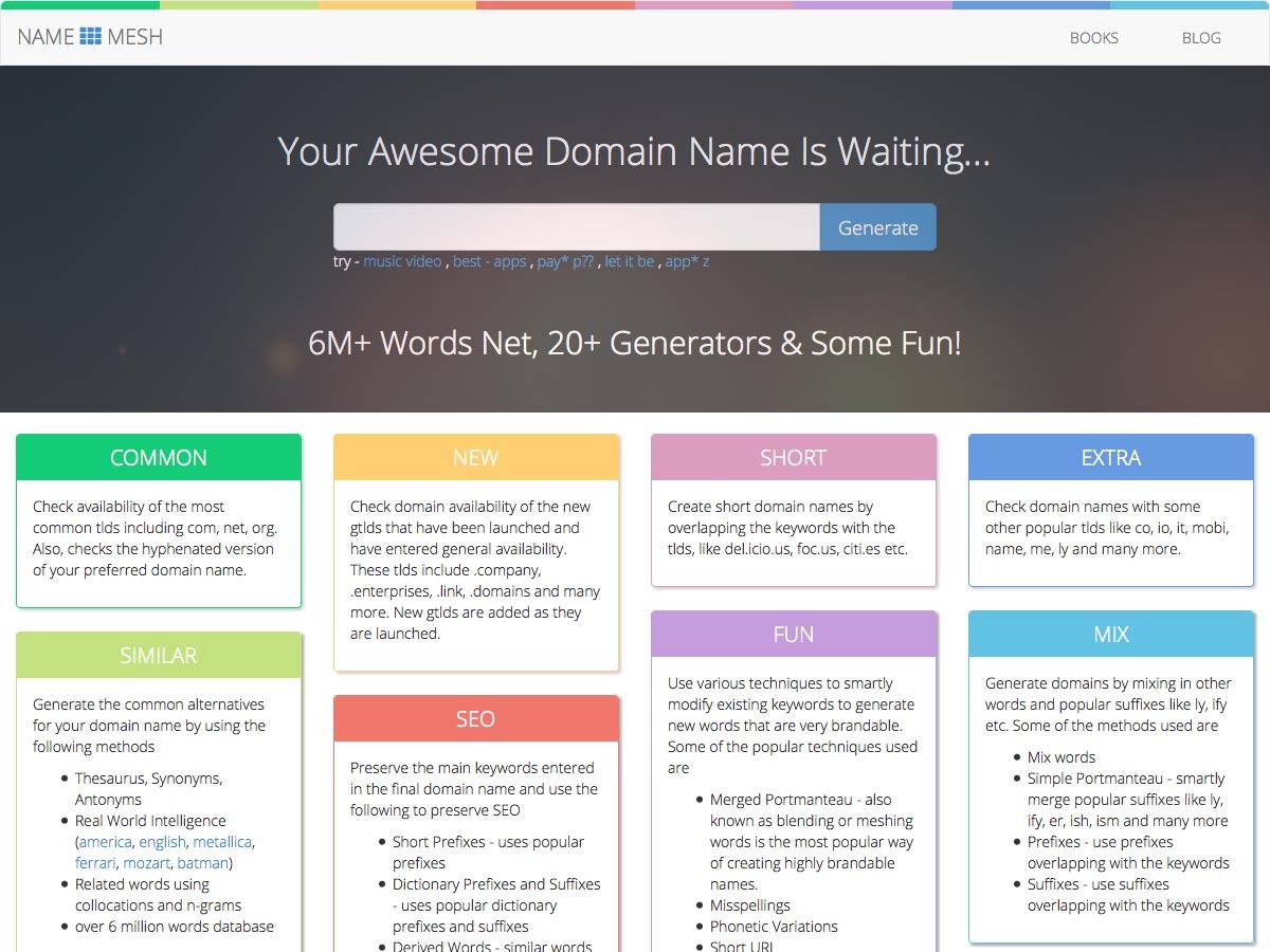 NameMesh Business Name Generator